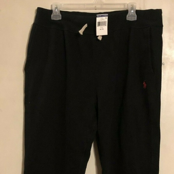 Polo by Ralph Lauren Other - Polo Ralph Lauren Mens Sweatpants Black/Red Pony X